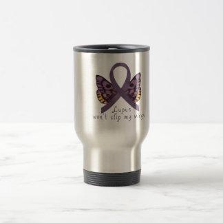 Lupus won't clip my wings travel mug