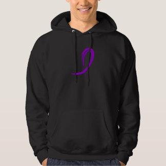 Lupus's Purple Ribbon A4 Hoodie