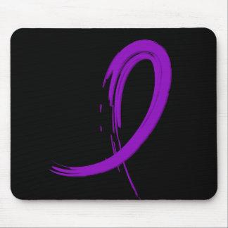 Lupus's Purple Ribbon A4 Mouse Pad