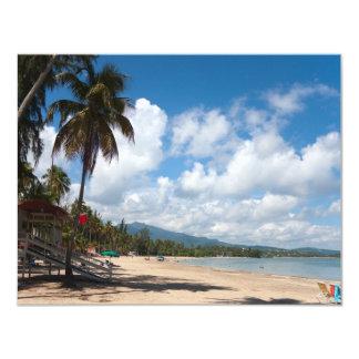Luquillo Beach Puerto Rico 4.25x5.5 Paper Invitation Card