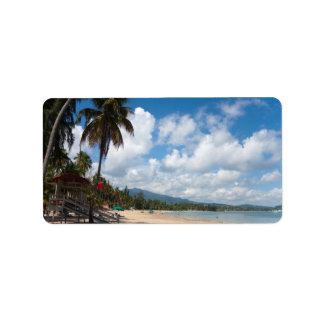 Luquillo Beach Puerto Rico Address Label