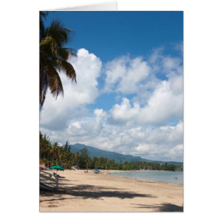 Luquillo Beach Puerto Rico Card