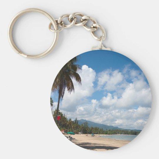 Luquillo Beach Puerto Rico Keychain