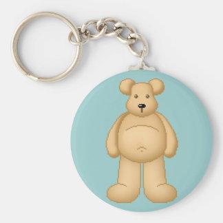 Lura's Critter Plump Bear Basic Round Button Keychain