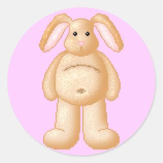 Lura's Critter Plump Bunny Classic Round Sticker