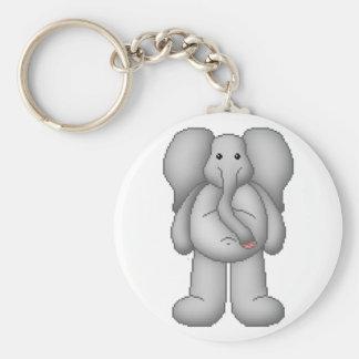 Lura's Critter Plump Elephant Basic Round Button Keychain