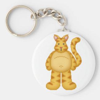 Lura's Critter Plump Kitty Basic Round Button Keychain