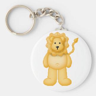 Lura's Critter Plump Lion Basic Round Button Keychain