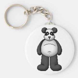 Lura's Critter Plump Panda Bear Basic Round Button Keychain