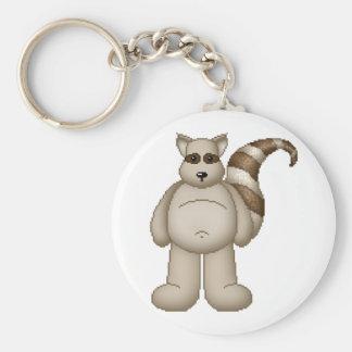 Lura's Critter Plump Raccoon Basic Round Button Keychain