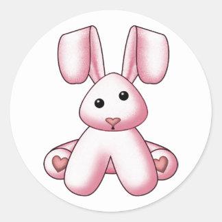 Lura's Stuffed Bunny 4 Classic Round Sticker