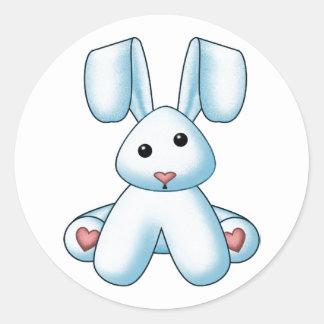 Lura's Stuffed Bunny 5 Classic Round Sticker