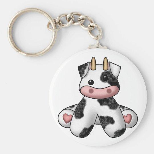 Lura's Stuffed Cow Keychain