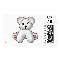Lura's Stuffed Teddy 2 Postage