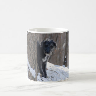 Lurcher Behind A Tree - Mug