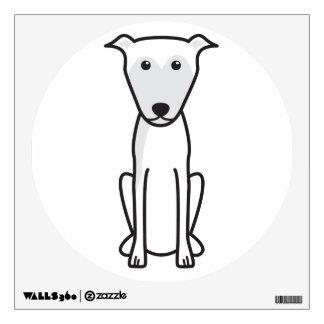 Lurcher Dog Cartoon Wall Decal