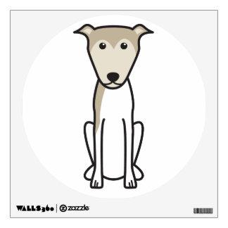Lurcher Dog Cartoon Wall Sticker
