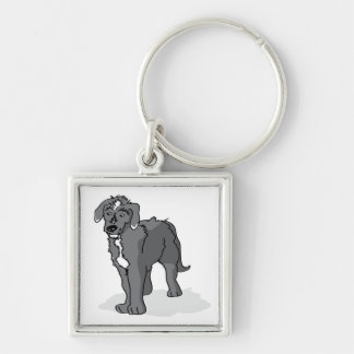 Lurcher Key Chain | Drawing of Male Lurcher
