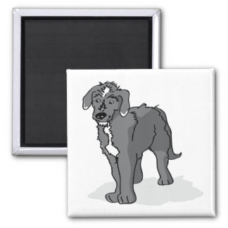 Lurcher Magnet | Drawing of Male Lurcher