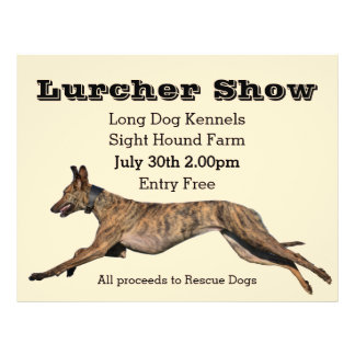 Lurcher Show Poster Flyer