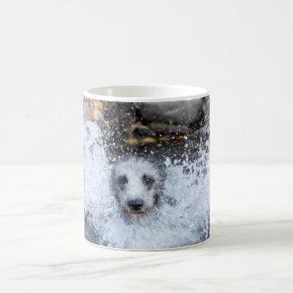 Lurcher Swimming Mug | Male Lurcher Dog