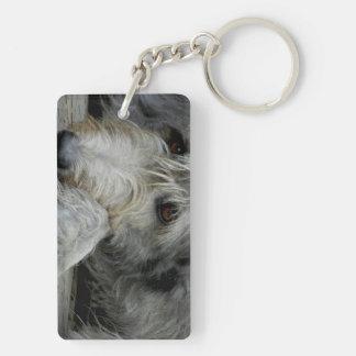 Lurcher Up Close - Keychain
