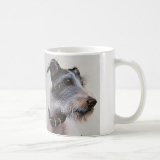 """Lurcher watercolor with """"Woman's Best Friend"""" text Coffee Mug"""