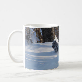 Lurchers Running Through The Snow - Mug