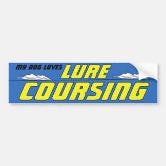 Lure Coursing dog sport bumper sticker
