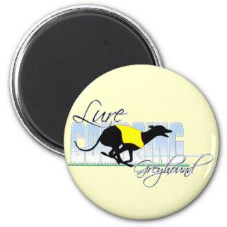 Lure Coursing Greyhound 2 Inch Round Magnet