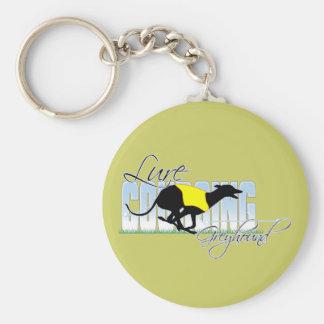 Lure Coursing Greyhound Keychain