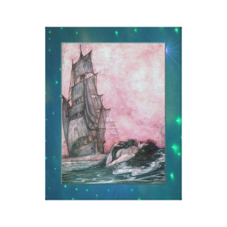 Lure of the Mermaid Wrapped Canvas