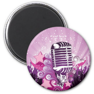 Lure of the Microphone 2 Inch Round Magnet