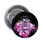 Lure of the Microphone Pinback Buttons