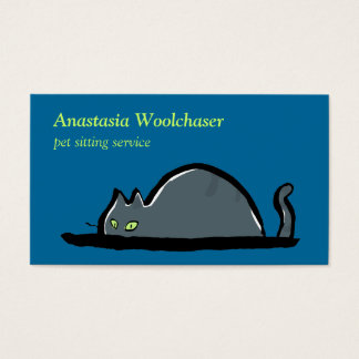 lurking cat - pet sitting business card