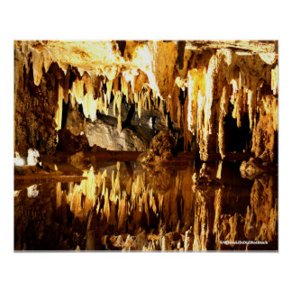 Lurray Caverns Virginia Lake In The Caverns Poster