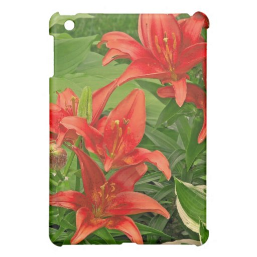 Luscious, Bright Red Day Lilies Cover For The iPad Mini