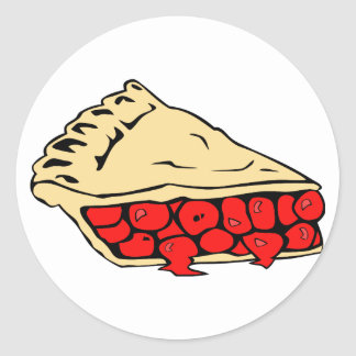 luscious cherry pie classic round sticker
