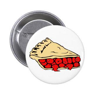 luscious cherry pie pinback button