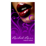 Luscious Glossy Lips Curliques   purple Business Card