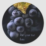 Luscious Grape Cluster Stickers