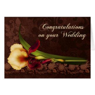 Luscious Iris Wedding Card