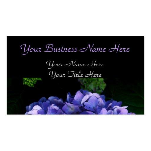 """Luscious Lavender Hydrangea"" Business Cards"