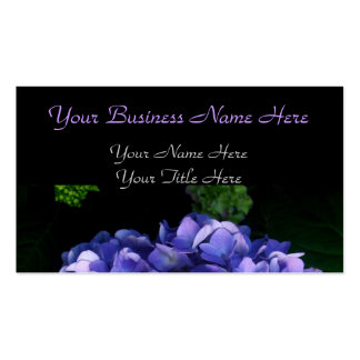 """Luscious Lavender Hydrangea"" Business Cards"