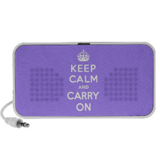 luscious Lavender  Keep Calm and Carry On Notebook Speakers