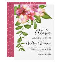 Luscious Leaves Hawaiian Wedding Invitation