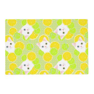 Luscious Lemonade Kitty Cat Sunny, Cheerful, Cute! Placemat
