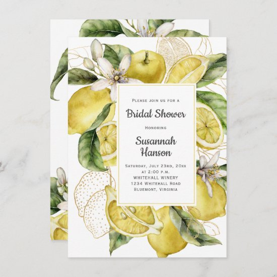 Luscious Lemons Bridal Shower Card