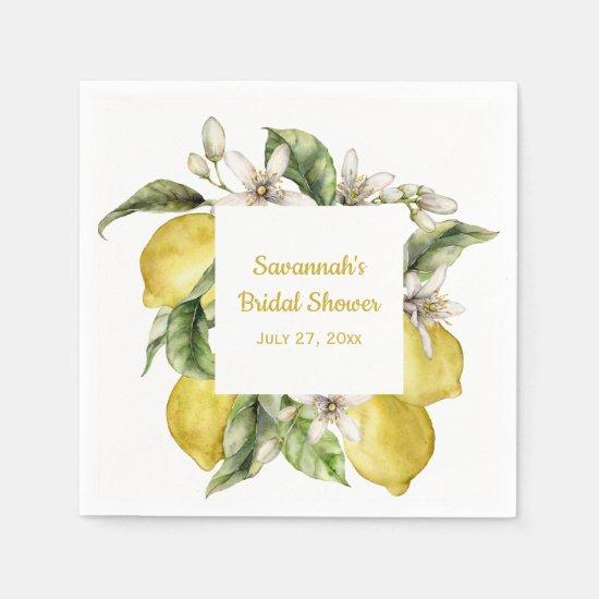 Luscious Lemons Bridal Shower Napkins
