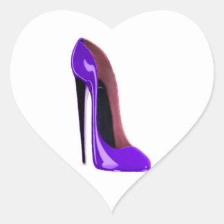 Luscious Lilac Stiletto Shoe Heart Sticker